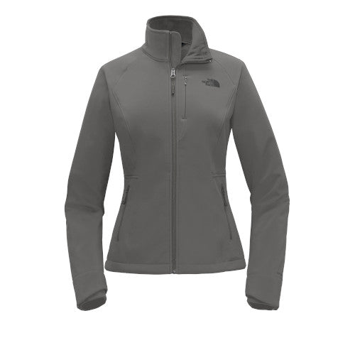 Asphalt Grey Custom The North Face Ladies Soft Shell Jacket