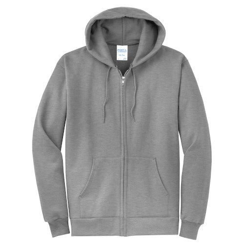 Athletic Heather Custom Full Zip Hooded Sweatshirt