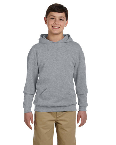Athletic Heather Custom Jerzees Youth Hooded Sweatshirt