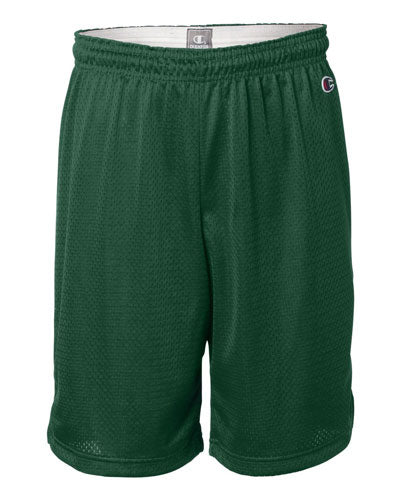 "Athletic Dark Green Custom Champion Polyester Mesh 9"" Shorts"