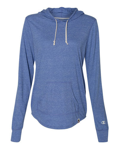 Athletic Royal Heather Custom Champion Women's Originals Triblend Hooded Pullover