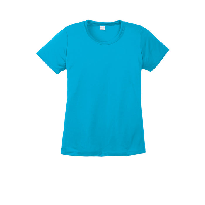 Atomic Blue Custom Ladies Dry Performance T-Shirt