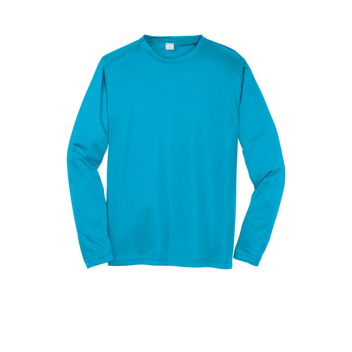 Atomic Blue Custom Long Sleeve Dry Performance T-Shirt