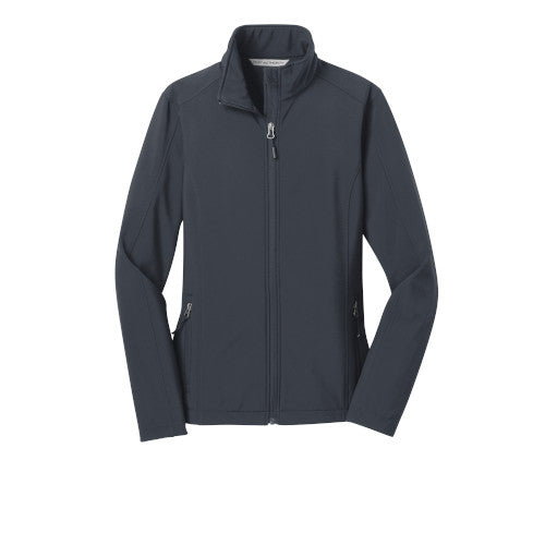 Battleship Grey Custom Ladies Soft Shell Jacket