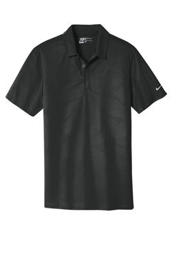 Black/Blue Nike Dri-FIT Embossed Tri-Blade Polo With Logo