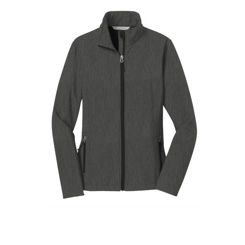 Black Charcoal Custom Ladies Soft Shell Jacket
