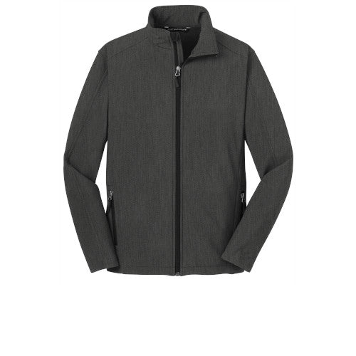 Black Charcoal Custom Men's Soft Shell Jacket