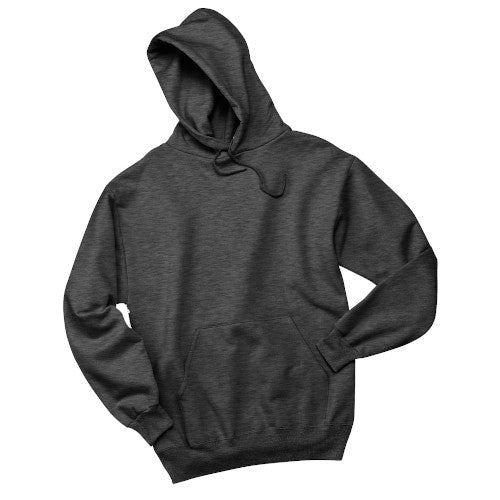 Black Heather Custom Jerzees Hooded Sweatshirt