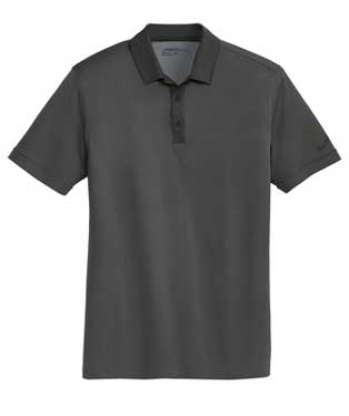 Black Heather Nike Dri-FIT Heather Pique Modern Fit Polo With Logo