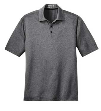 Black Heather Nike Dri-FIT Heather Polo With Logo