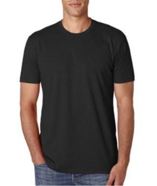Black Custom Next Level Premium T-Shirt with logo
