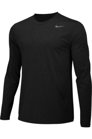Black Custom Nike Dri-FIT Long Sleeve T-Shirt