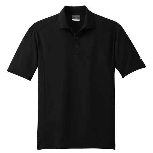 Black Nike Dri-FIT Golf Shirt With Logo