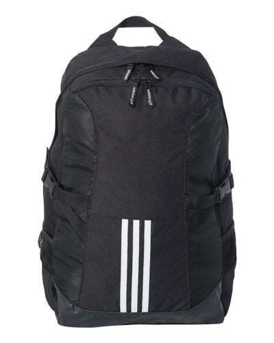 Black Custom Adidas - 3 Stripe Backpack