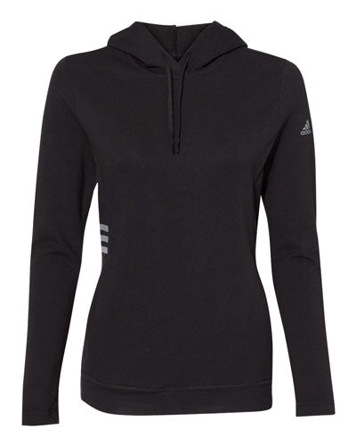 Black Custom Adidas - Women's Lightweight Hooded Sweatshirt