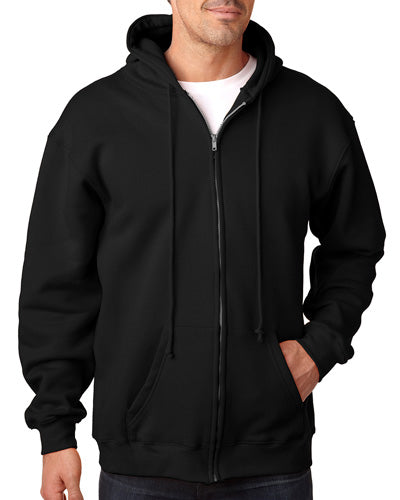 Black Custom American Made Zip Sweatshirt