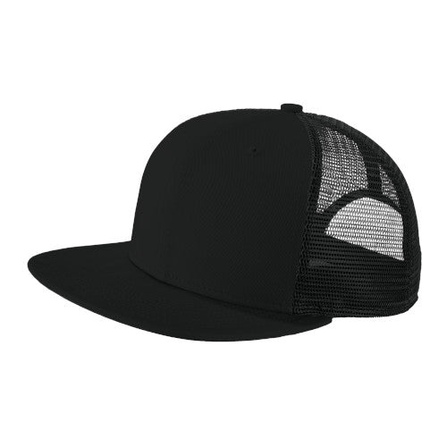 Black/ Black Custom New Era Original Fit Snapback Trucker Cap