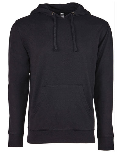 Black/ Black Custom Next Level Unisex French Terry Pullover Hoody