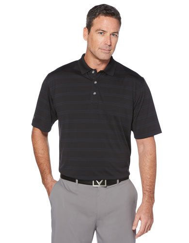 Black Custom Callaway Textured Performance Polo