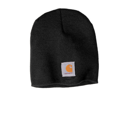 Black Custom Carhartt Acrylic Knit Hat