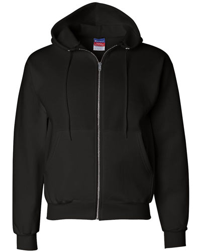 Black Custom Champion Full Zip Hoodie Sweatshirt