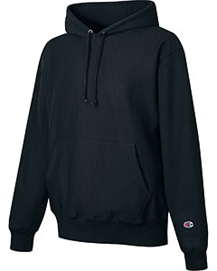 Black Custom Champion Heavyweight Hooded Sweatshirt