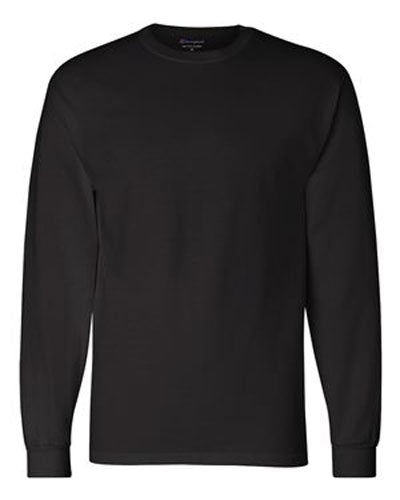 Black Custom Champion Long Sleeve T- Shirt