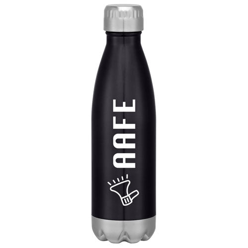 Black Custom Cola Shaped Stainless Steel Bottle