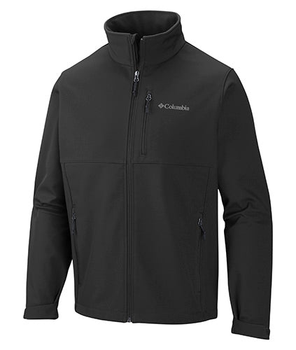 Black Custom Columbia Soft Shell Jacket