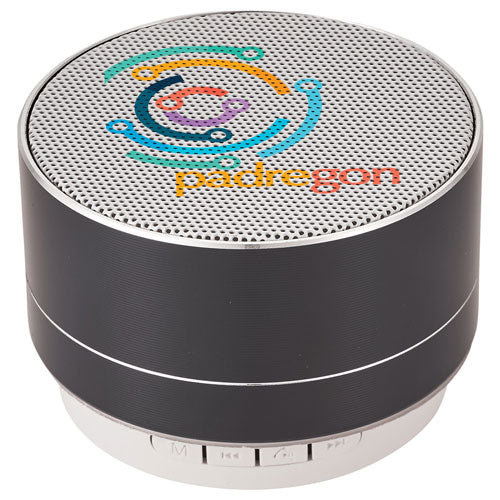Black Custom Bluetooth Speaker with logo