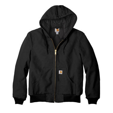 Black Custom Carhartt Flannel Lined Jacket
