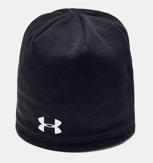 Black Custom Armour Under Beanie