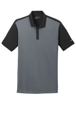 Black/Dark Grey Nike Dri-FIT Colorblock Icon Modern Fit Polo With Logo