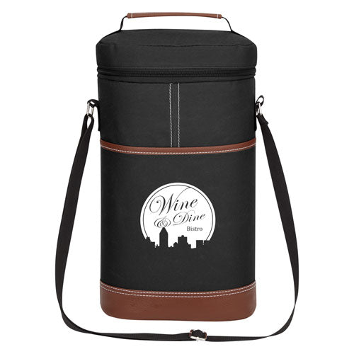 Black Custom Double Wine Cooler Bag