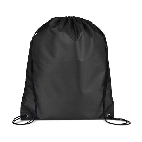 Black Custom Drawstring Backpack