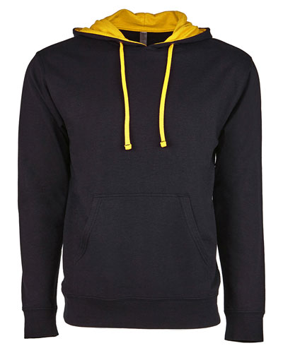 Black/ Gold Custom Next Level Unisex French Terry Pullover Hoody