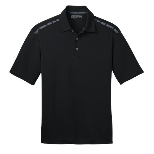 Black/Grey Nike Dri-FIT Graphic Polo With Logo