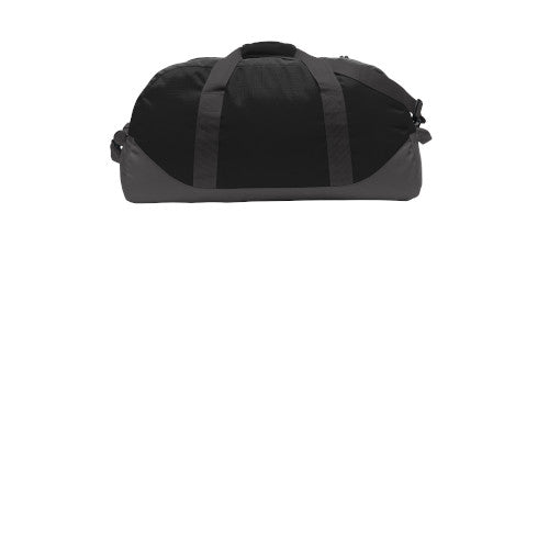 Black Grey Steel Custom Eddie Bauer Large Ripstop Duffel