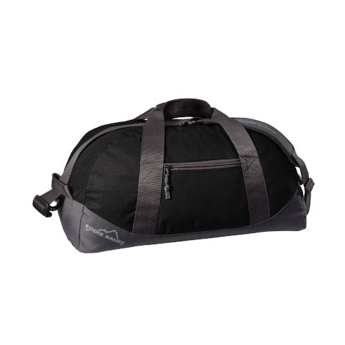 Black Grey Steel Custom Eddie Bauer Medium Ripstop Duffel