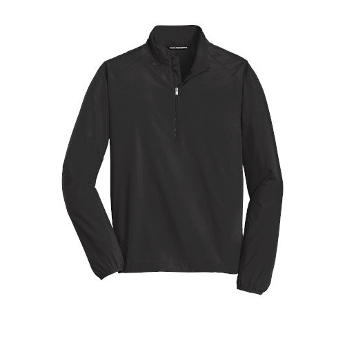 Black Custom Half Zip Windshirt Jacket