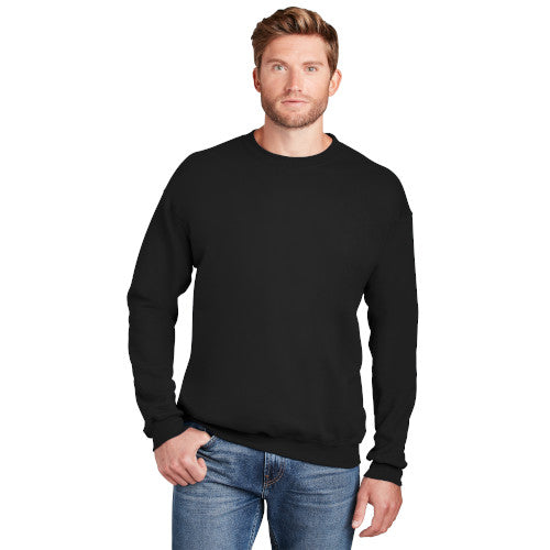 Black Custom Hanes Crewneck Sweatshirt with logo