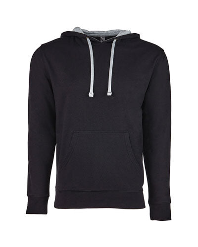 Black/ Heather Grey Custom Next Level Unisex French Terry Pullover Hoody