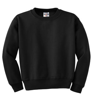 Black Custom Jerzees Youth Sweatshirt