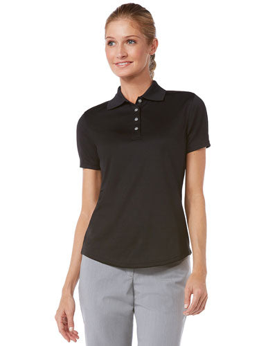 Black Custom Ladies Callaway Performance Polo