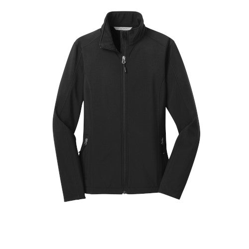 Black Custom Ladies Soft Shell Jacket