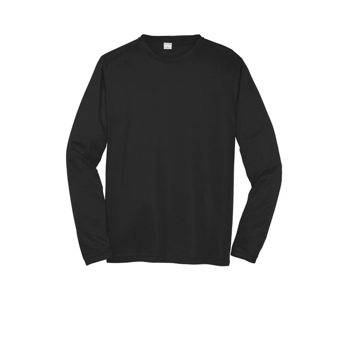 Black Custom Long Sleeve Dry Performance T-Shirt