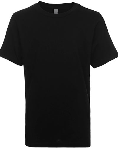 Black Custom Next Level Youth Boys' Cotton Crew