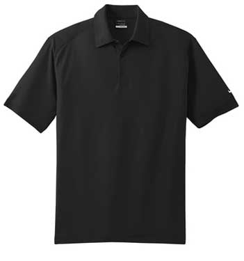 Black Nike Dri-FIT Mini Texture Polo With Logo