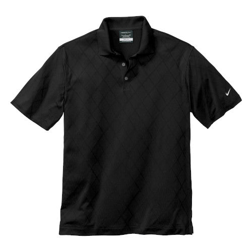 Black Nike Dri-FIT Cross Over Shirt With Logo