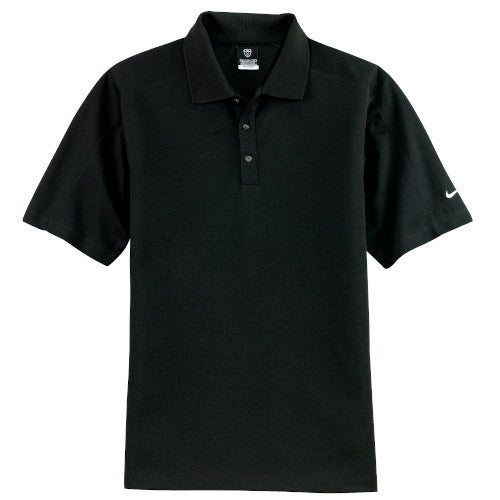 Black Nike Dri-FIT Pique Polo With Logo